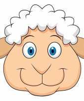 Dieren masker schaap lammetje voor kids