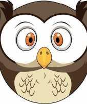 Dieren masker uil voor kids