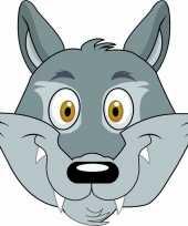 Dieren masker wolf voor kids