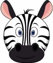 Dieren masker zebra voor kids