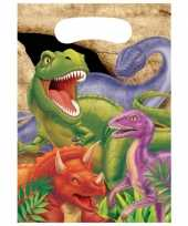 Dinosaurus thema feestzakjes 8 stuks