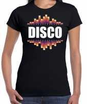 Disco fun tekst t shirt zwart voor dames