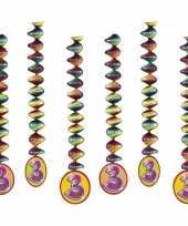 Feest decoratie spiralen 3 jaar 10153310