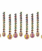 Feest decoratie spiralen 3 jaar 10153311