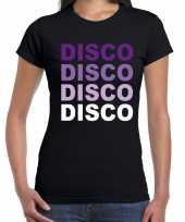 Feest disco t shirt zwart voor dames