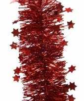 Feest lametta guirlande rood sterren glinsterend 10 x 270 cm feestversiering decoratie