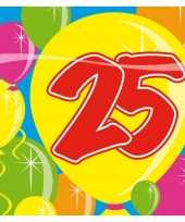 Feest servetten 25 jaar