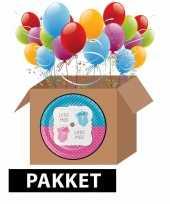 Feestpakket gender reveal party 8 stuks