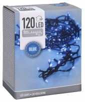 Feestverlichting lichtsnoeren met blauwe led lampjes lichtjes 9 meter