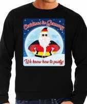 Foute duitsland kerstborrel trui kersttrui christmas in germany zwart voor heren
