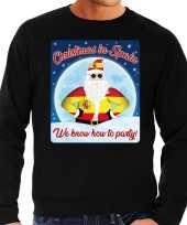 Foute spanje kerstborrel trui kersttrui christmas in spain zwart voor heren