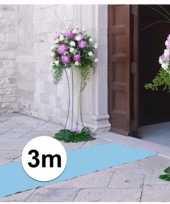 Geboorte artikelen jongen lichtblauwe lopers 3x1 meter breed