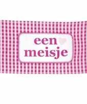 Geboorte vlag een meisje 90 x 150 cm
