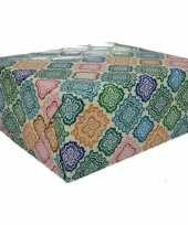 Gekleurd cadeaupapier met strepen 70 x 200 cm type 5