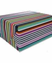 Gekleurd cadeaupapier met strepen 70 x 200 cm type 7 10127272