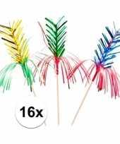 Gekleurde feestprikkers 16 stuks