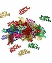 Gekleurde happy birthday verjaardag confetti 60 gram