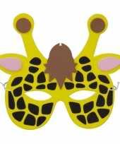 Giraffes foam masker voor kinderen