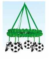 Grote groene decoratiekrans met voetbaldecoratie