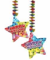 Hangdecoraties happy birthday 2 stuks