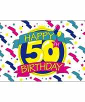 Happy birthday vlaggen 50 jaar
