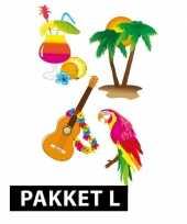 Hawaii versiering en feestartikelen pakket groot