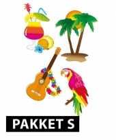Hawaii versiering en feestartikelen pakket klein