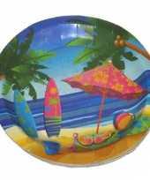 Hawaii wegwerp bordjes 23 cm
