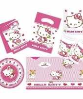 Hello kitty feestje versiering pakket 7 12 personen