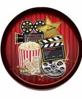 Hollywood thema borden 8 stuks
