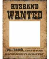 Huwelijk fotoprop set wanted 6 stuks