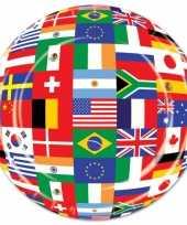 Internationale feestbordjes 8 stuks