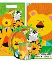Jungles print feestje versiering pakket 9 16 personen