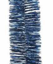 Kerst lametta guirlande donkerblauw 270 cm kerstboom versiering decoratie