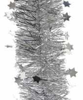 Kerst lametta guirlande zilveren sterren glinsterend 270 cm kerstboom versiering decoratie