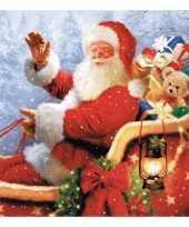 Kerst servetten met kerstman opdruk