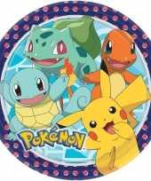 Kinderfeestje bordjes 22 8cm pokemon 16 stuks tafeldecoratie