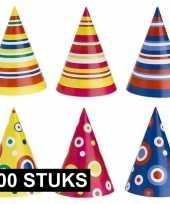 Kinderfeestje hoedjes karton 100 stuks