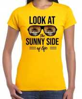 Look at the sunny side of life party outfit kleding geel voor dames