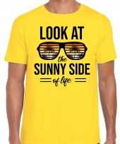 Look at the sunny side of life party outfit kleding geel voor heren
