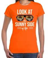 Look at the sunny side of life party outfit kleding oranje voor dames