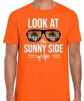 Look at the sunny side of life party outfit kleding oranje voor heren