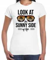 Look at the sunny side of life party outfit kleding wit voor dames