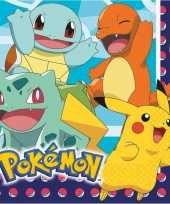 Lunchservetten pokemon 16 stuks tafeldecoratie