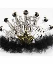 Nieuwjaar tiara zilver