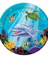 Oceaan thema feestborden 8 stuks