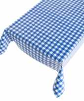 Oktoberfest tafelkleed voor binnen buiten blauwe ruit 140 x 240 cm