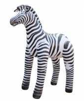 Opblaas zebra zwart wit gestreept 81 cm