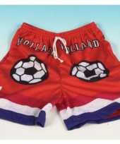 Oranje supporter voetbal shorts