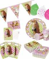Paarden print feestje versiering pakket 7 12 personen